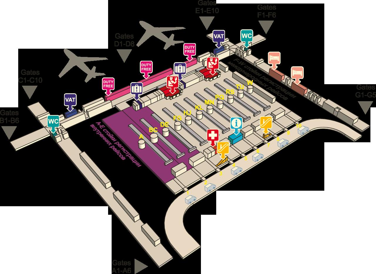 Аэропорт в бангкоке суварнабхуми схема на русском